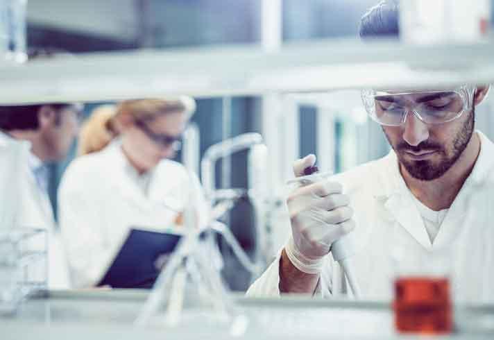Drug development in a lab