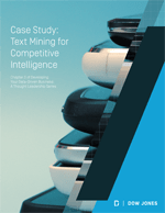 Dow Jones case study text mining for competitive intelligence