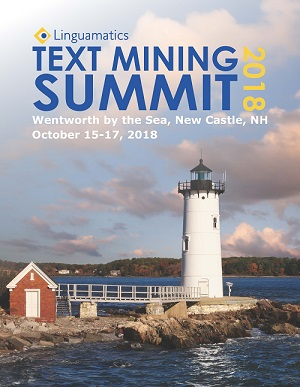 Linguamatics Text Mining Summit 2018 Brochure