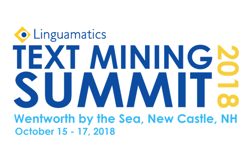 Early Bird registration open for this year's Linguamatics Text Mining Summit