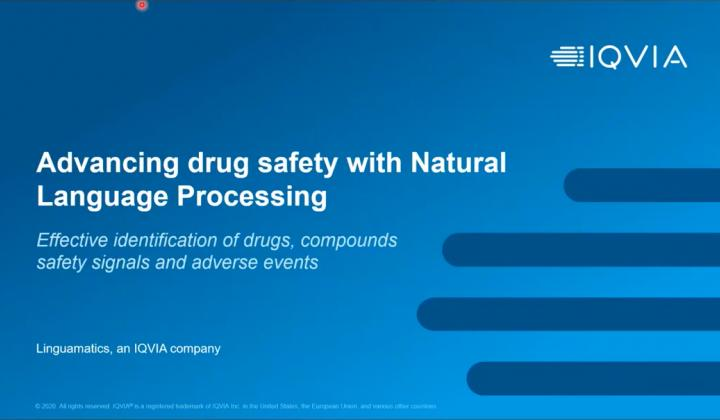 Webinar: Natural language processing innovations for drug safety in Pharma