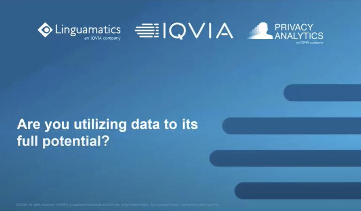 Webinar: Privacy Analytics and Linguamatics: Are you utilizing patient data to its full potential?