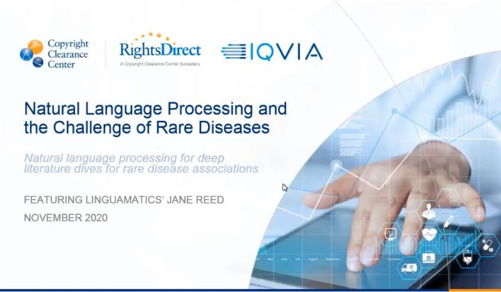 Webinar: Natural Language Processing and the Challenge of Rare Diseases