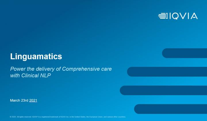 Webinar: Power the delivery of comprehensive care with Clinical Natural Language Processing