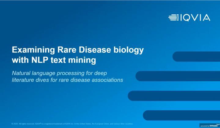 Fierce webinar: Examining Rare Disease Biology with NLP Text Mining at Takeda