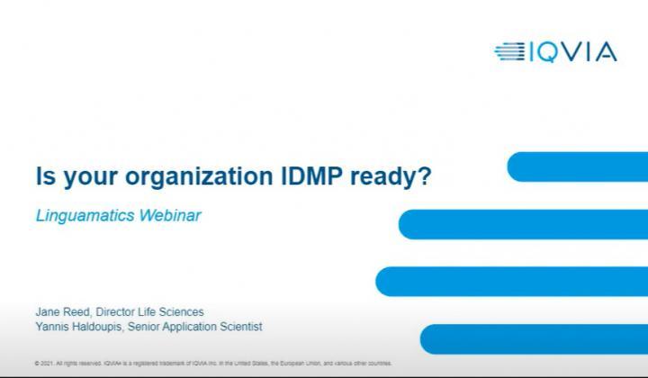 Webinar: Is your organization IDMP ready?