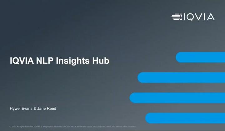 Webinar: NLP Insights Hub: empower teams with rich, rapid insights from disparate data sources