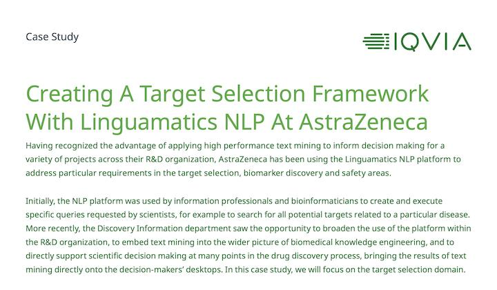 Case study: Target selection at AstraZeneca