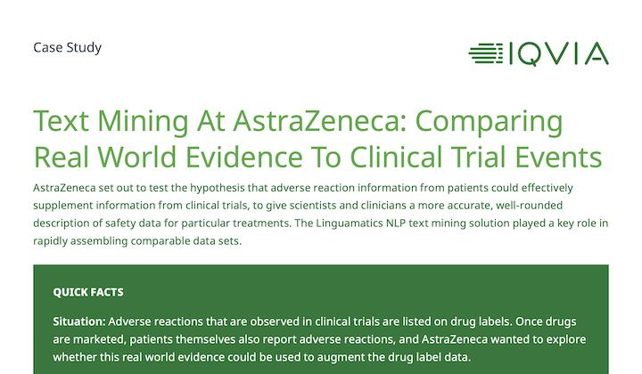 Case study: Clinical trials at AstraZeneca