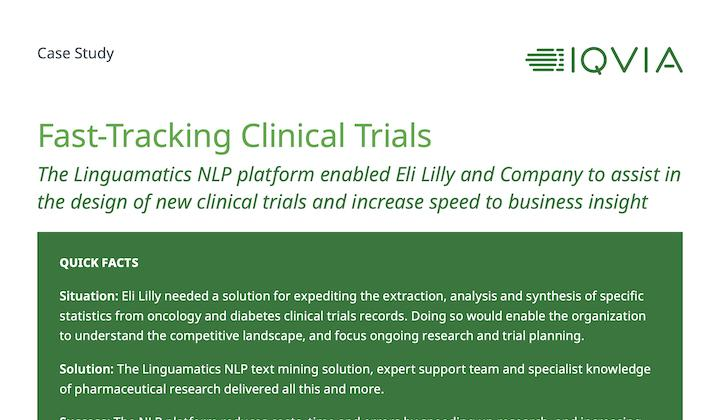 Case study: Fast-Tracking Clinical Trials at Eli Lilly and Company