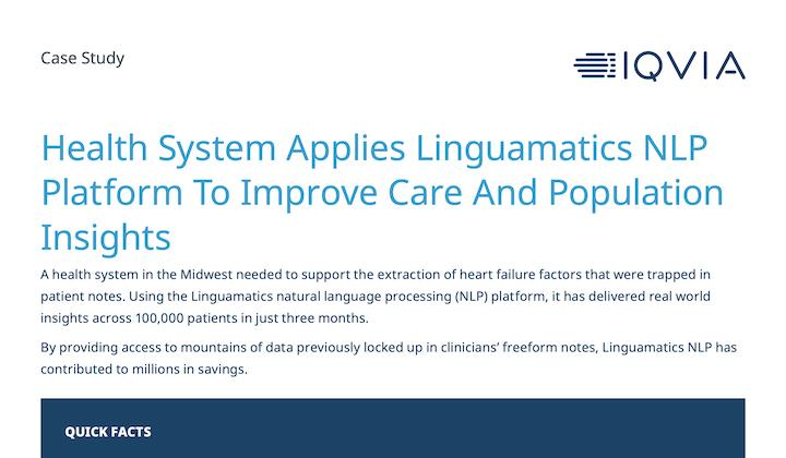 Case Study: Improving Care and Population Insights in Health Systems with NLP