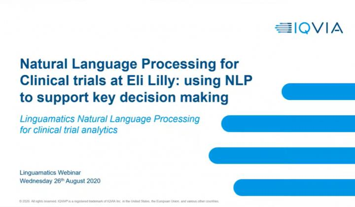 Webinar: Natural Language Processing for Clinical trials at Eli Lilly