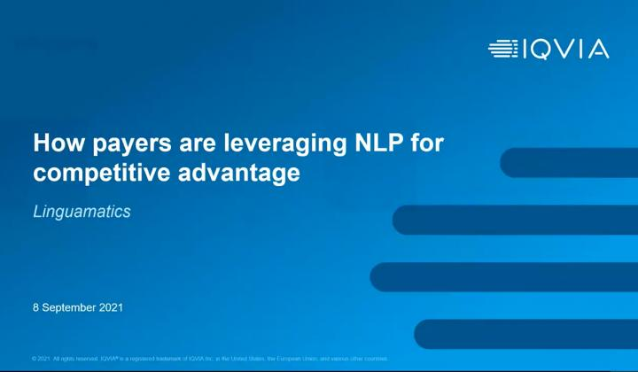 Webinar: How payers are leveraging NLP for competitive advantage