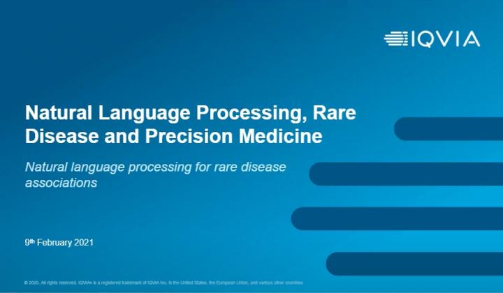 Webinar: Natural Language Processing, Rare Disease and Precision Medicine