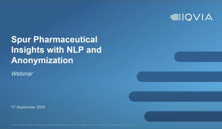 Webinar: Spur key pharma insights with NLP and anonymization services
