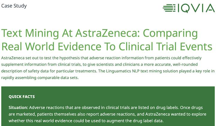 Case Study: Comparing Real-World Evidence to Clinical Trial Events at AstraZeneca