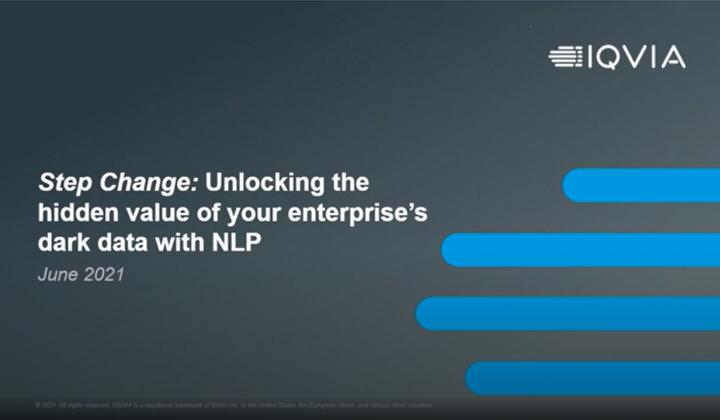 Webinar: Step Change: Unlocking the hidden value of your enterprise's dark data with NLP